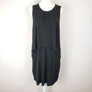 BCBGeneration black layered sleeveless cape dress